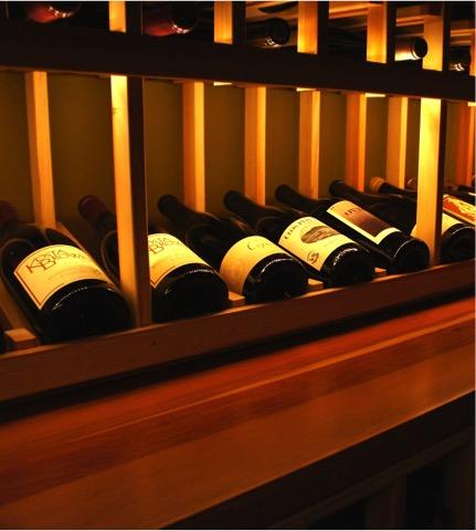 Rent a private room with custom wine racks here in San Juan Capistrano