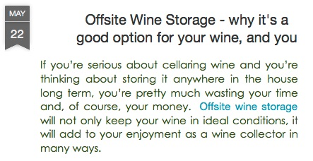 Offsite Wine Storage - Why It's a Good Option for Your Wine Collection Here in San Juan Capistrano